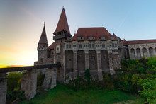 Corvinesti Castle At The Sunrise