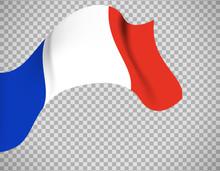 France Flag On Transparent Background