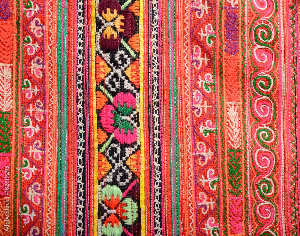 Thailand fabric pattern
