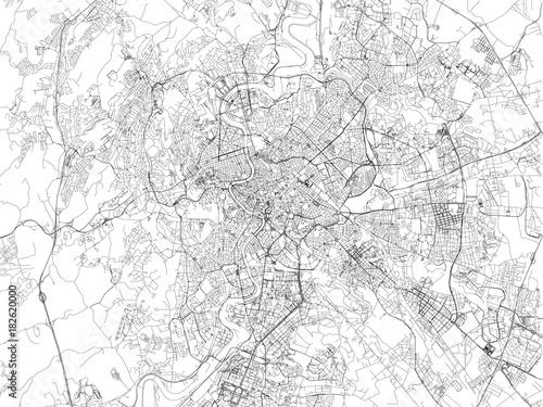 Cartina Citta Roma.Strade Di Roma Cartina Della Citta Italia Capitale Stradario Stock Vector Adobe Stock