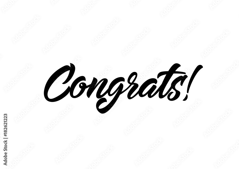 Fotografie, Obraz Congrats Calligraphic Lettering