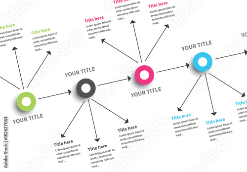 Vertical Mind Map Horizontal Infographic  Buy this stock