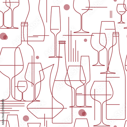 seamless-background-with-wine-glasses-and-bottles-design-element-for-tasting-menu-wine-list-winery-shop-line-style-vector-illustration