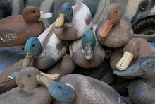 Pile Of Old Duck Decoys