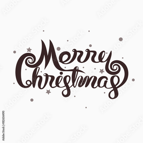 Merry Christmas Typographical Design Elements Merry Christmas Vector Text Calligraphic Lettering Design Card Template Calligraphy Font Style Banner Buy This Stock Vector And Explore Similar Vectors At Adobe Stock Adobe Stock