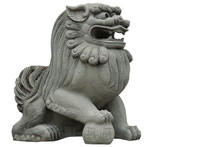 Chinese Lion Figure Isolated O...