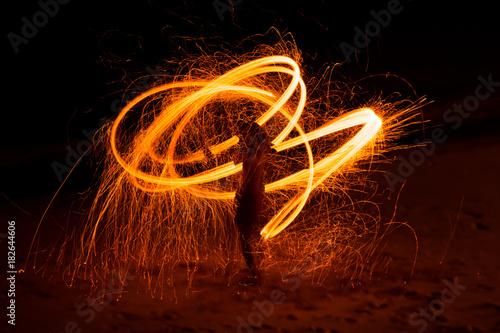 Door stickers Dance School Fire Dance Show