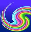 Rainbow swirly brush paint background