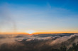 beautiful colorful sky & mountain sunrise at Phurua
