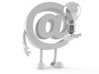 E-mail character with light bulb