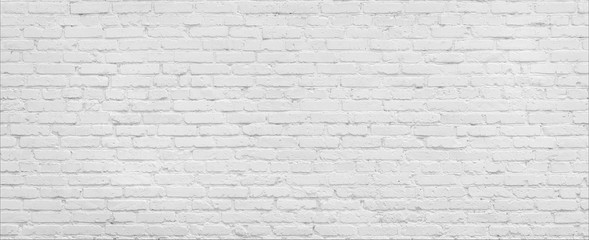 White brick Wall panorama.