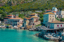 Limeni Peloponnese - Scenic View At The Picturesque Village Of Limeni With The Beautiful Alleys And The Characteristic Stone Buildings.