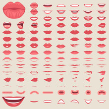 Vector Illustration Of A Kiss...