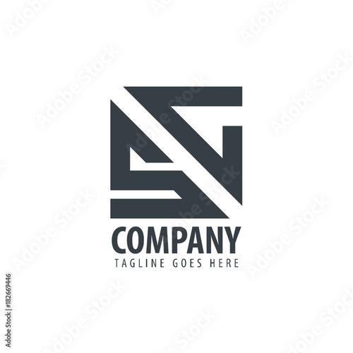 Initial Letter Sc Design Logo Kaufen Sie Diese