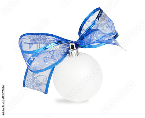 Türaufkleber Wasser white and blue Christmas bauble