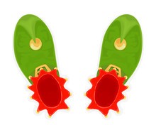 Christmas Green Elf Shoes