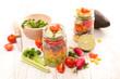 vegetable salad in jar