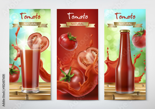 Photo  Tomato juice and ketchup ad