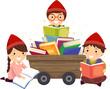 Stickman Kids Dwarves Books Illustration