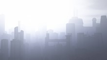 Post Apocalyptic Heavily Air Polluted Smoggy Metropolis