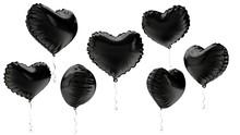 3d Rendered Heart Black  Foil ...