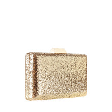 Gold Clutch On White Background