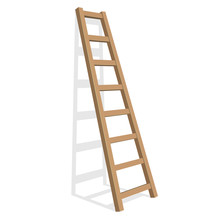 Realistic Ladder On A White Ba...