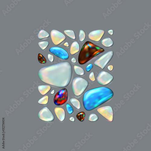 Vászonkép Realistic vector picture Gemstones
