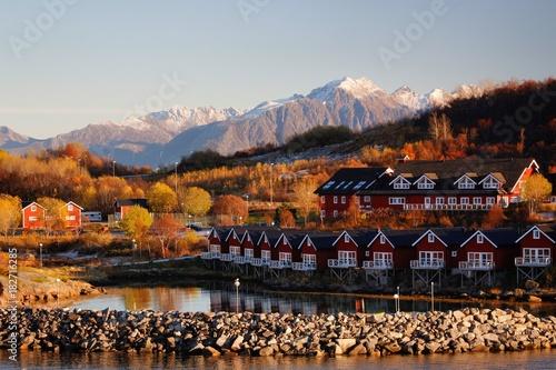 Foto auf AluDibond Schwarz Stokmarknes, Norwegen