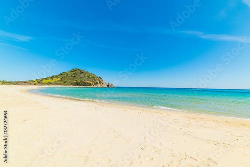 Photo  Blue sea and white sand in Cala Monte Turno