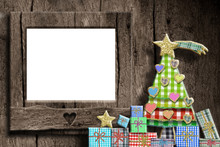 Christmas Empty Photo Frame Gr...