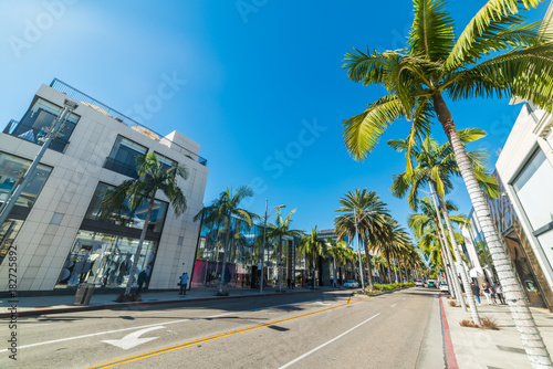 Clear sky over Rodeo Drive