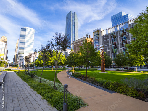 Photo  Bicentennial Park in Oklahoma City - downtown district