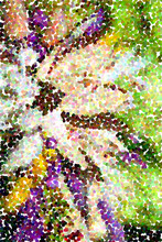 Abstract Multicolored Pointillist Painting For Background - Big Flower
