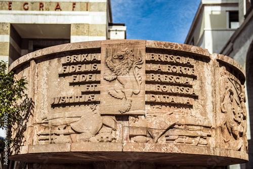 Brescia - piazza della Vittoria - arengario pubblico Wallpaper Mural