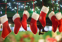 Red Seven Christmas Stockings ...