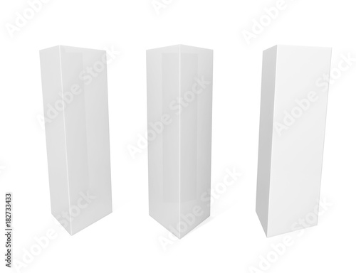 white blank empty paper tri fold table tent card mock up template