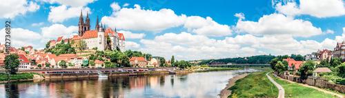 Fényképezés  Albrechtsburg über der Elbe in Meissen
