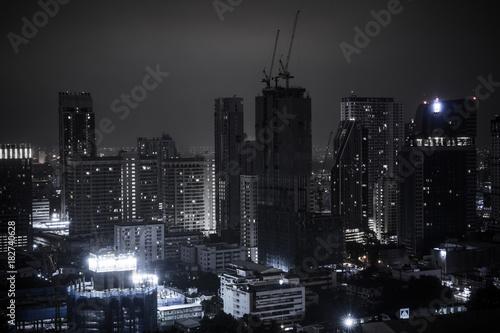 Bangkok city at night. Poster