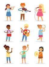 Music Kids Vector Cartoon Char...