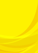 Background Concept Design For Brochure Or Flyer. Abstract Template With Yellow Lines In Dynamic Style. Vector