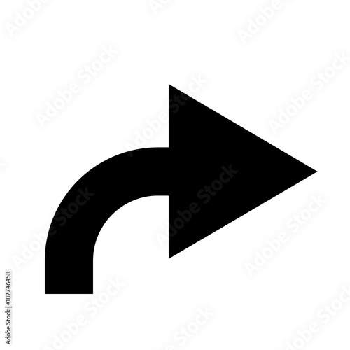 Black Curved Arrow To Right
