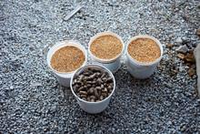 Buckets Of Dried Animal Feed O...