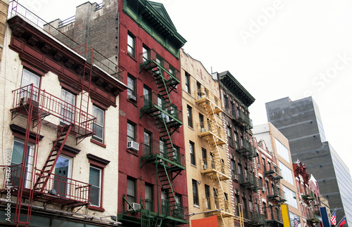 New York City residential buildings in China Town district