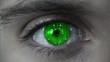 Macro falling matrix green eye plan
