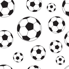Seamless Pattern With Football...