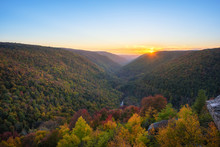 Autumn Sunset From Lindy Point...