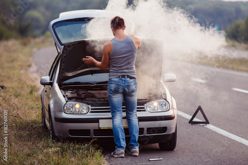 Car Broke Down >> The Car Broke Down Smokes From Under The Hood The Driver
