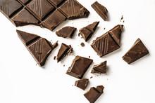 Broken Chocolate Bar, Top View