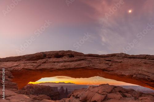 Magenta Sunrise at Mesa Arch Moab Utah
